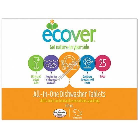 Ecological All-In-One Dishwasher Tablets 25 tabs - Ecover