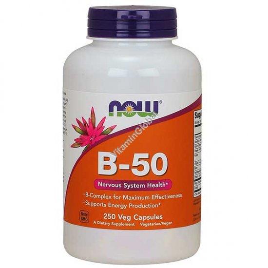B-50 Complex 250 Veg Capsules - NOW Foods