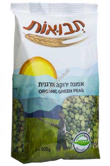 Organic Green Split Peas 500g - Tvuot