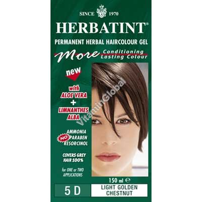Permanent Haircolour 5D Light Golden Chestnut - Herbatint