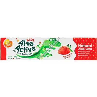Children\'s Toothpaste Strawberry Flavour 100ml - Kids Aloe Active