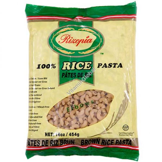 Brown Rice Noodles Elbows 454g (16 oz) - Rizopia