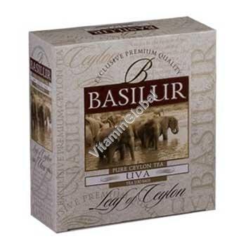 Pure Ceylon Black Tea UVA 100 tea bags - Basilur