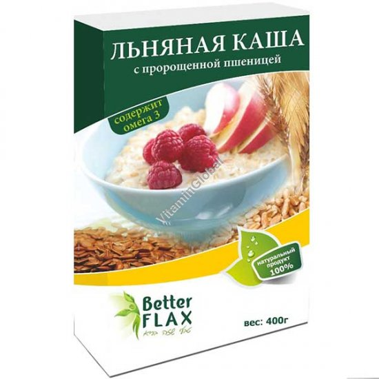 Flaxseed Porridge with Wheat Germ 400g - Better Flax