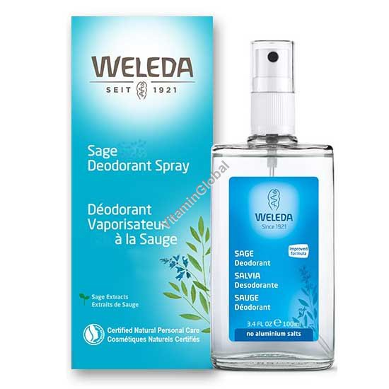 Sage Deodorant Spray 100ml - Weleda