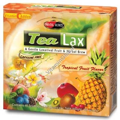 Tea Lax Tropical Fruit Flavor 40 Tea Bags - Oriental Secrets
