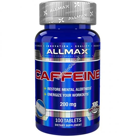 Caffeine 200mg 100 tablets - ALLMAX