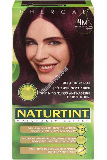 Permanent Hair Color 4M Mahogany Chestnut - Naturtint