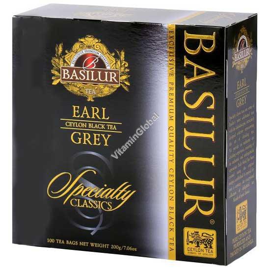 Ceylon Black Tea Earl Grey 100 tea bags - Basilur