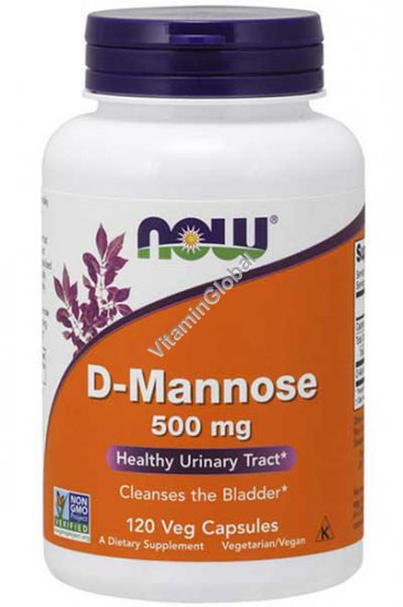 D-Mannose 500 mg 120 Veg capsules - Now Foods