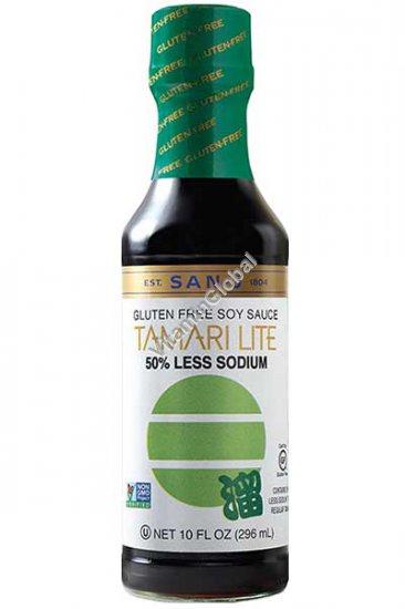 Gluten Free Tamari Soy Sauce, 50% Less Sodium 296ml (10 Fl Oz) - San-J