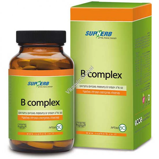 Kosher L\'Mehadrin B-50 Complex 60 tablets - SupHerb