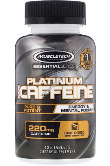 Platinum Caffeine 220mg 125 tablets - Muscletech