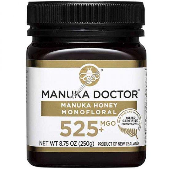 Manuka Honey Monofloral, MGO 525+, 8.75 oz (250 g) - Manuka Doctor