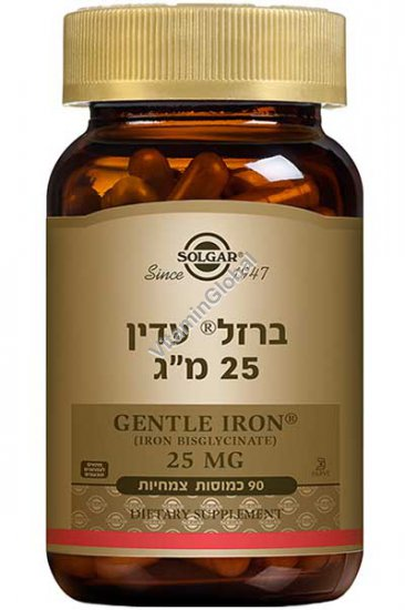 Gentle Iron 25 mg 90 capsules - Solgar