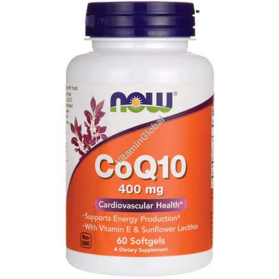 Coenzyme Q10 400 mg 60 softgels - NOW Foods