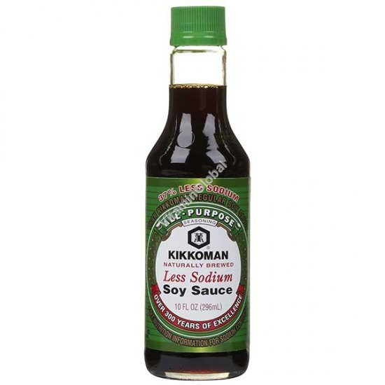 Less Sodium Soy Sauce 296 ml - Kikkoman
