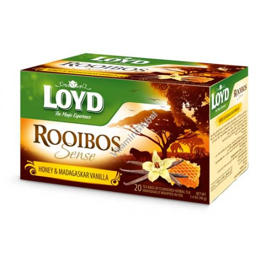 Rooibos Sense Honey & Madagascar Vanilla 20 tea bags - Loyd