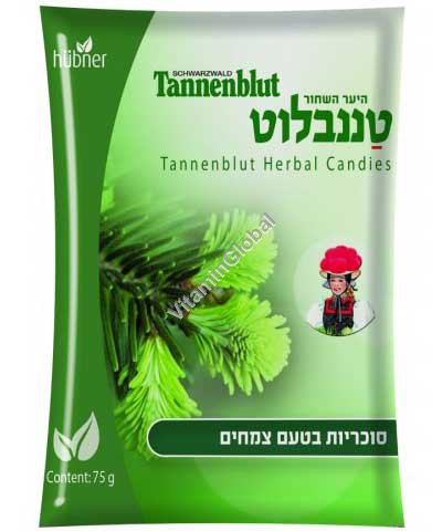 Tannenblut - Relieving Sore Throat Herbal Candies 75g - Hubner