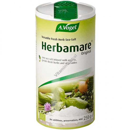 Herbamare Organic Herb Seasoning Salt 250g - A.Vogel