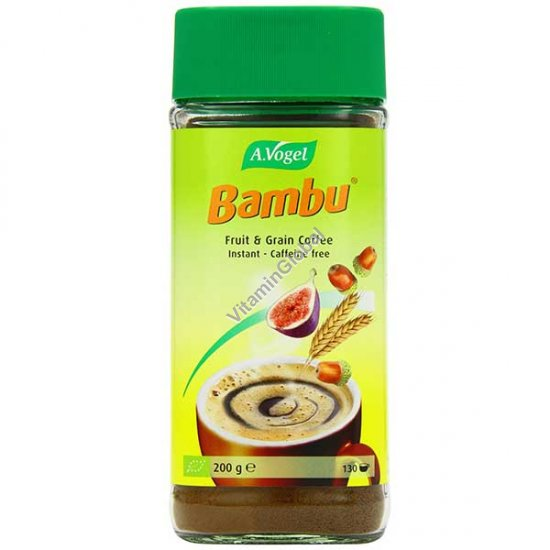 Organic Instant Coffee Substitute, Fruit & Grain Coffee Bambu 200g - A.Vogel