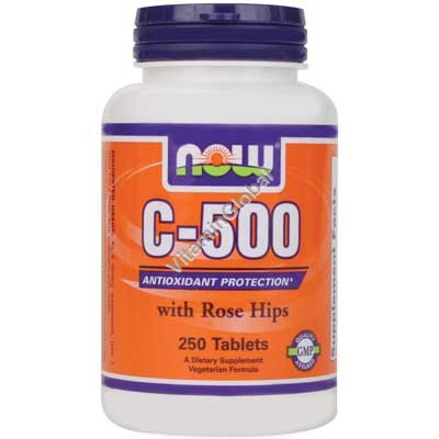 Vitamin C-500 with Rose Hips 250 tabs - NOW Foods