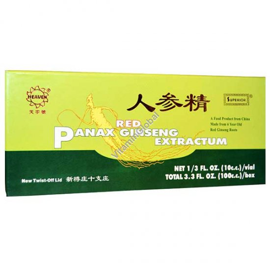 Chinese Red Panax Ginseng Extractum 10 ampoules X 10ml - Heaven