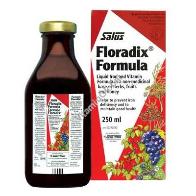 Floradix Liquid Iron Formula 250 ml - Salus