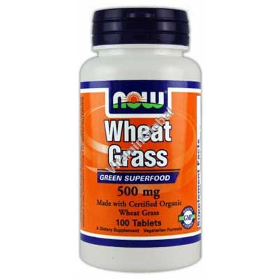Wheat Grass 500 mg 100 tabs - NOW Foods
