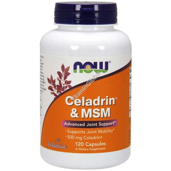 Celadrin & MSM 500 mg 120 capsules - NOW Foods