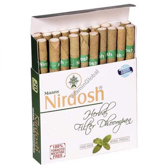 Herbal cigarettes nicotine & tobacco free 20 Cigarettes - Nirdosh