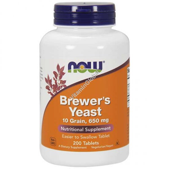 Brewer\'s Yeast 650 mg 200 tablets - Now Foods