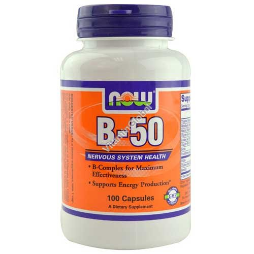 B-50 Complex 100 capsules - NOW Foods