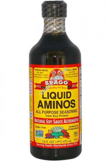 Liquid Aminos All Purpose Seasoning Soy Sauce Alternative 473 ml (16 fl oz) - Bragg