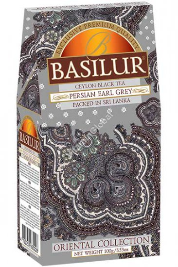 Ceylon Black Tea Persian Earl Grey 100g (3.53 oz) - Basilur