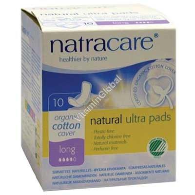 Organic Cotton Long Ultra Pads 10 pcs - Natracare