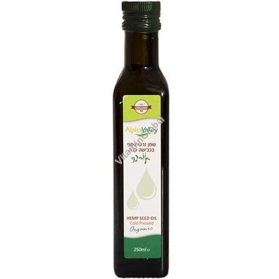 Organic Cold Pressed Hemp Oil 250ml - Alpha Valley