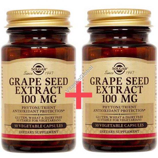 Grape Seed Extract 100 mg 60 (30+30) vegetable capsules - Solgar