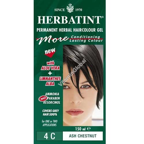 Permanent Haircolor Gel 4C Ash Chestnut - Herbatint