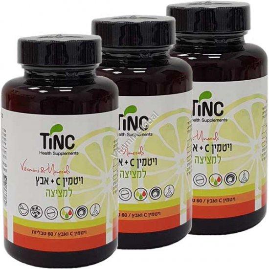 Deal! Vitamin C 500mg + Zinc 22mg 180 (60+60+60) Lozenges - Tinctura Tech