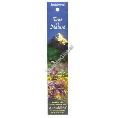 Sandalwood Natural Incense Sticks 10g - Auroshikha