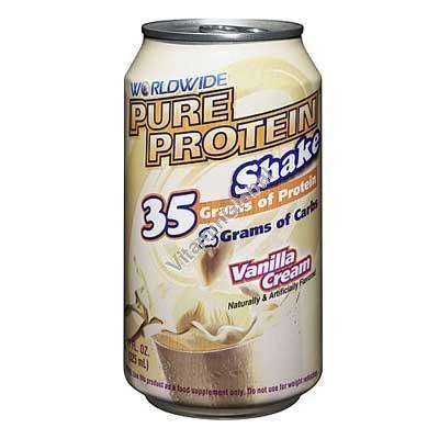 Pure Protein Shake Vanilla Cream 325 ml (11 FL. OZ.) - Worldwide