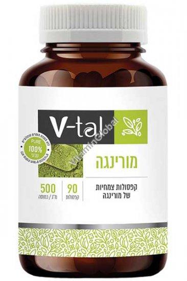 Kosher Badatz Moringa Oleifera Superfood 500mg 90 capsules - V-tal