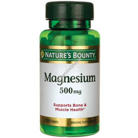 Magnesium 500mg 100 tablets - Nature\'s Bounty