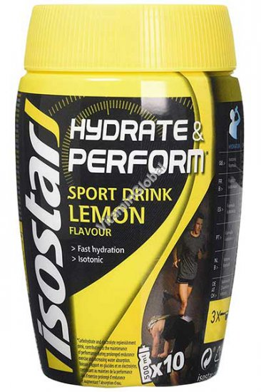 Hydrate & Perform Sport Drink Lemon Flavour 400g - IsoStar