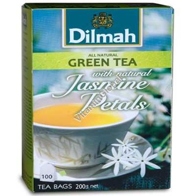 Green Tea with Jasmine Petals 100 tea bags - Dilmah