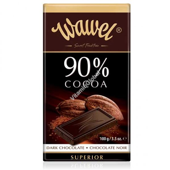 Superior Dark Chocolate 90% cocoa 100g (3.5 oz.) - Wawel
