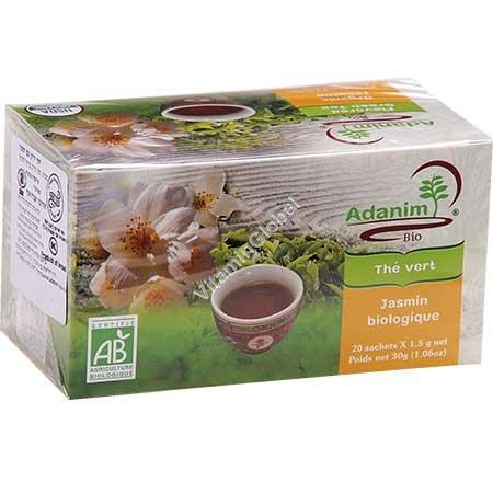 Organic Jasmine Green Tea 20 tea bags - Adanim