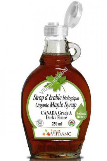 Organic Maple Syrup Grade A Dark 250 ml - Ferme VIFRANC