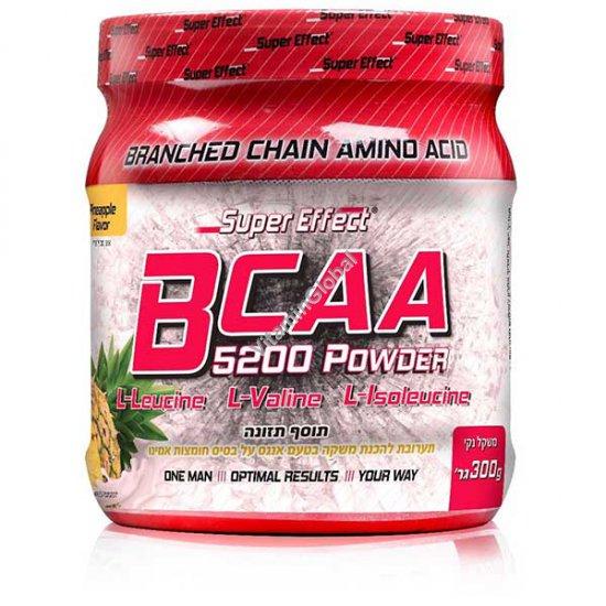 Kosher BCAA 5200 Powder Pineapple Flavor 300g - Super Effect